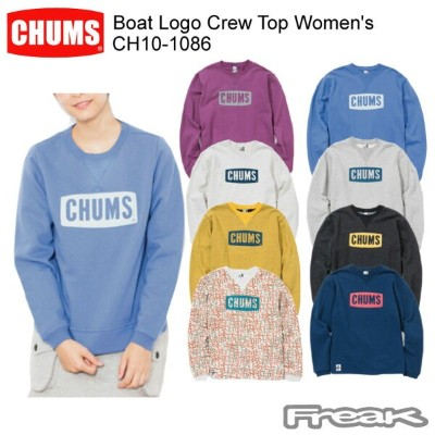 CHUMS チャムス CH10-1086 Boat Logo Crew Top Women's ボートロゴクルートップ  ※取り寄せ品