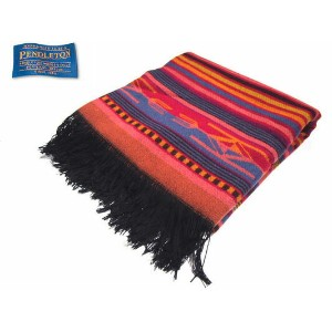 PENDLETON(ペンドルトン)/#ZF646 CHIMAYO JACQUARD THROW MADE IN U.S.A./fire red