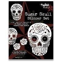 YJ04 YUJEAN STICKERS SUGAR SKULL ステッカー WHITE