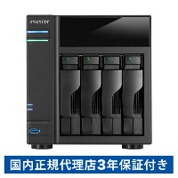【割引クーポン配布】AS6104T ASUSTOR タワー型NAS(4ベイ・ホーム&SOHO向け・Intel Celeron 1.6GHz Dual-Core burst up to 2.16GHz...