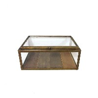 GLASS COLLECTION BOX A.GOLD