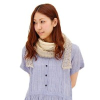 【★SALE 40%OFF】【SS】カリマール リネンハーフムーンストール[NCL1331]【返品交換不可】