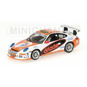 PORSCHEポルシェ | 911 GT3 N 98 CARRERA CUP ASIA MACAU 2007 P.MA | WHITE ORANGE /Minichampsミニチャンプス 1/43...