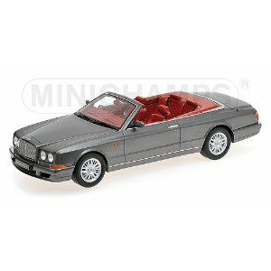 BENTLEYベントレー CONTINENTAL AZURE CABRIOLET 2-DOOR OPEN 1996 | GREY MET /Minichampsミニチャンプス 1/18 ミニカー