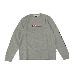 【VANSアパレル】 ヴァンズ スウェット SIDE WAZE CREW VN0A36KD02F 17FA CEMENT HEATHER