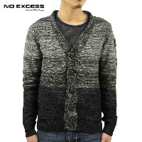 【15%OFFセール 6/26 20:00~6/30 23:59】 ノーエクセス NO EXCESS 正規販売店 メンズ カーディガン PULLOVER BUTTON CARDIGAN 230933...