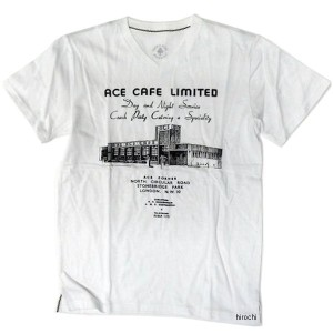 ACTS007/WH-XL エースカフェロンドン ACE CAFE LONDON Tシャツ OLD BUILDING 白 XLサイズ