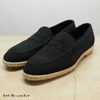 foot the coacher(フット ザ コーチャー)/COIN LOAFER(ESPADRIILE) -BK SUPER BUCK-