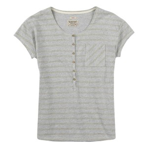【バートン】BURTON レディースTシャツ Women's Salvador Short Sleeve Tee:Dove Heather Hatch Stripe