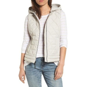 andrew marc sage hooded quilted vest マルク ベスト レディースファッション トップス