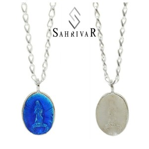SAHRIVAR シャフリーバル SN87S15S Enameled Medai Necklace シルバー マリア ネックレス