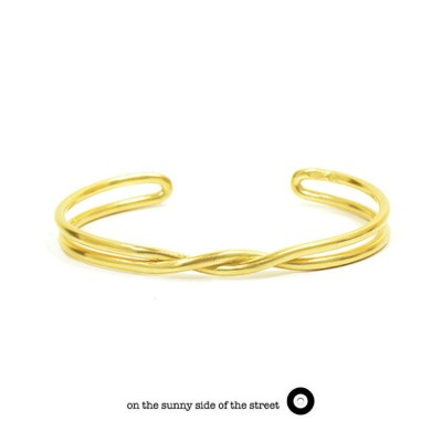 on the sunny side of the street オンザサニーサイドオブザストリート610-265 610-265 Gold Twist Bangle Silver Gold シルバー...