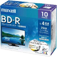 日立マクセル BD-R録画用 25GB 4倍速 10枚P