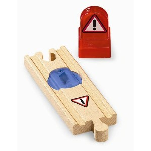 BRIO ブリオ 木製 レール 警告レール 33764 Wooden Railway System: Smart Track Warning