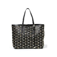 ジミーチュウ JIMMY CHOO Jimmy Choo トートバッグ LEATHER W MULTI METAL STARS (143 SASHA M LTR) BLACK METALLIC...