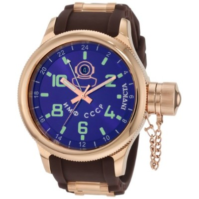 インビクタ 時計 インヴィクタ メンズ 腕時計 Invicta Men's 1218 Russian Diver 18k Rose Gold Ion-Plated Blue Dial Brown...