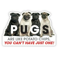 Pugs are like Potato Chips【パグ】輸入雑貨・犬グッズ・犬雑貨・パググッズ