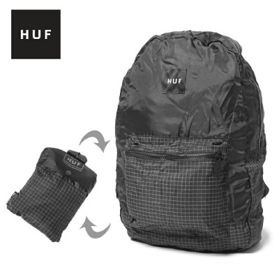 HUF ハフ リュック パッカブル バックパック PACKABLE BACKPACK AC00101 かばん 鞄 カバン リュックサック ポケッタブル 通勤 通学 高校生 女子 大容量 内祝い...