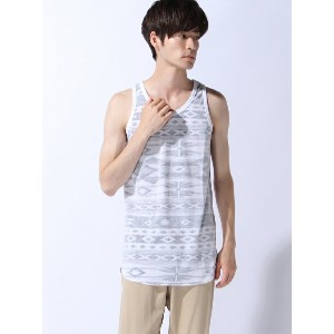 【SALE/55%OFF】(M)ZIP FIVE 裏プリントロングタンクトップ(5) ジップファイブ カットソー【RBA_S】【RBA_E】