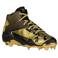 アンダーアーマー メンズ 野球 シューズ・靴【Under Armour Deception Mid DT】Black/Metallic Gold