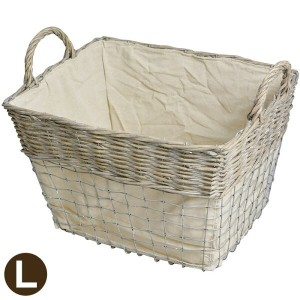 かご WOOD&WIRE BASKET (L)