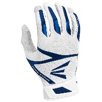 イーストン メンズ 野球 グローブ【Easton Z10 Hyperskin Batting Gloves】White/Navy