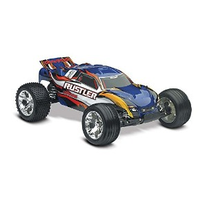 【送料無料】【Traxxas Rustler RTR with XL-5 ESC Vehicle Blue】 b01du474ec
