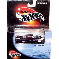 【送料無料】【100% Hot Wheels - 1959 Cadillac (Black w/Yellow/Orange/Blue Flames) Replica - Mounted in...