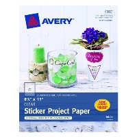 【送料無料】【Avery Sticker Project Paper 8.5 x 11 Inches Clear Pack of 10 (04383) by Avery [並行輸入品]】...