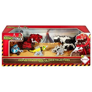 【送料無料】【Dinotrux Construction vs. Destruction Mega Pack Diecast Figure 5-Pack by Mattel [並行輸入品]】...