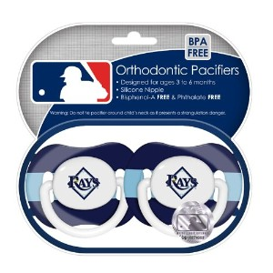 MLB Tampa Bay Rays Pacifiers, by Baby Fanatic