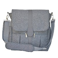 JJ Cole Backpack Diaper Bag, Gray Heather by JJ Cole