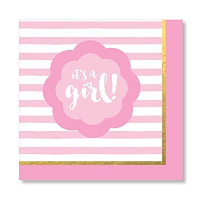 C.R. Gibson Lunch Napkins, It's a Girl, 20 Count by C.R. Gibson