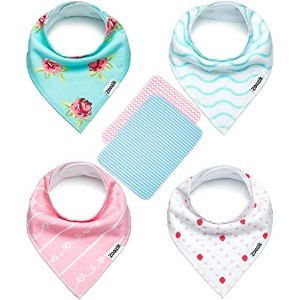 Baby Bandana Drool Bibs for Drooling and Teething Gift Set For Girls - Darling Set by Zoozik by Zoozik
