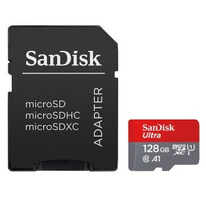 128GB microSDXCカード マイクロSD SanDisk サンディスク Ultra CLASS10 UHS-I A1 R:100MB/s SD変換アダプター付 海外リテール SDSQUAR-128G-GN6MA ◆メ