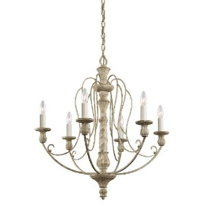 """Kichler 43257Haymanベイsingle-tier candle-styleシャンデリアwith 6ライト–72、"""" 27 in. W x 29.75 in. H..."""