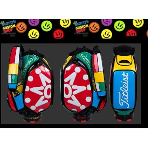 2017年 SCOTTY CAMERON LTD2017 Window Pane Staff Bag Archival Golf Bagsキャメロン 限定キャディバッグ7 Point Crown