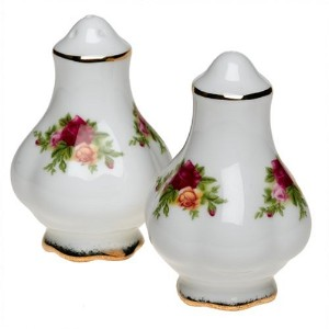 Royal Albert Old Country Roses 3-Inch Salt and Pepper Set by Royal Doulton