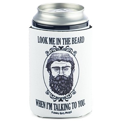 Funny GuyマグカップLook Me in the beard When I ' m Talking To YouネオプレンはCoolie、ホワイト