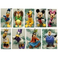 Mickey Mouse Clubhouseデラックス9Piece HolidayクリスマスTree Ornament Set Featuring Mickeyマウス、ミニマウス、プルート...