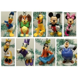 Mickey Mouse Clubhouseデラックス9 Piece HolidayクリスマスTree Ornament Set Featuring Mickeyマウス、ミニマウス、プルート...