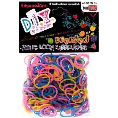 Expressions Girl / D.I.Y. 300-piece Scented Latex-free Rubber Band Bracelet Loom Refill Pack by...