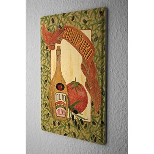 Tin Sign ブリキ看板 Retro Wall Sign olive oil Tomato Metal Plate