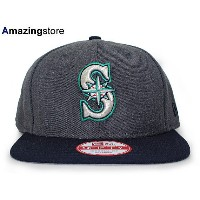 NEW ERA SEATTLE MARINERS 【2T TEAM-BASIC SNAPBACK/DARK HEATHER GREY-NAVY】 ニューエラ キャップ シアトル マリナーズ...