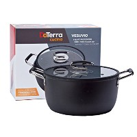 Vesuvio 8 Quart Nonstick Dutch Oven : : NontoxicセラミックコーティングStock Pot withオーブン安全ガラス蓋