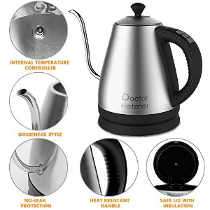 Electric Kettle 1.0l 1 KW with温度制御( USプラグ)