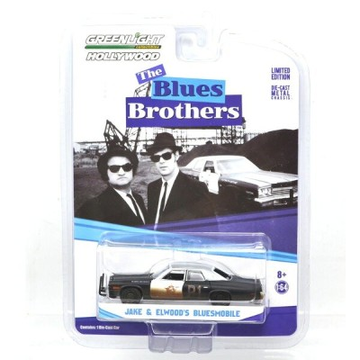 """GREENLIGHT HOLLYWOOD 1:64SCALE """"THE BLUES BROTHERS"""" """"JAKE & ELWOOD'S BLUESMOBILE"""" グリーンライト ハリウッド 1..."""