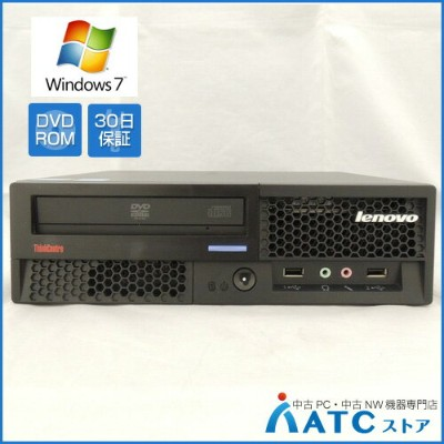 【中古デスクトップパソコン】Lenovo/ThinkCentre M58 Eco US/7359DGJ/Core2Duo E7600 3.06GHz/HDD 320GB/メモリ 2GB/DVD...