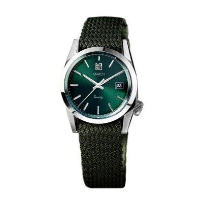 マーチエルエービー【MARCH LA.B】Seventy/Three - 36mm Silver Case Green Dial