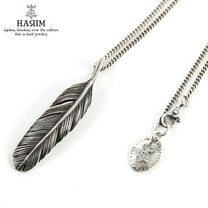 ハリム HARIM ネックレス HARIM FEATHER RIGHT S GP HRP123BR SILVER 925 OXIDIZED BLACK & BRASS NECKLACE SET
